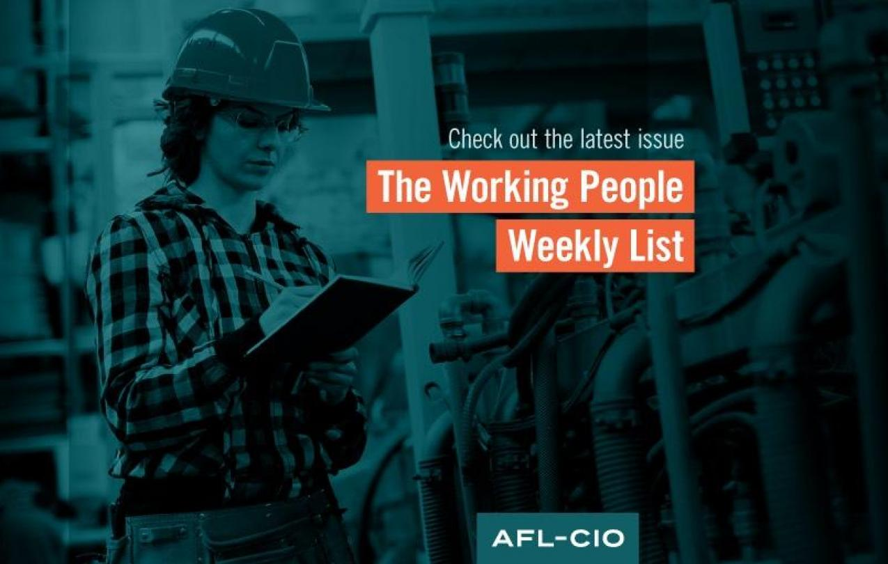 Profiling African American Labor Champions: The Working People Weekly List